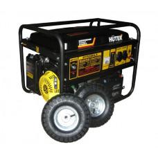 Портативный бензогенератор с колесами и аккумулятором HUTER DY6500LX