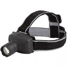 Фонарь налобный LED5354 (3xR03) 1св/д 1W черный/пласт. фокусир.,повор.отраж,3 реж Ultraflash