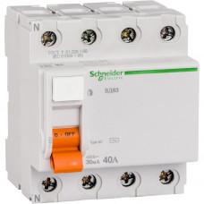 Выключатель дифф.тока (УЗО) 4п 40А 30мА тип AC ВД63 Домовой