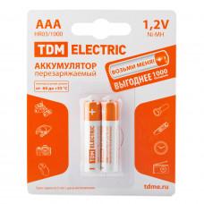 Аккумулятор TDM AAA 1000mAh Ni-MH BP-2
