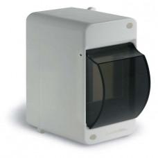 Бокс КМПн 1-2 модуля навесной с крышкой белый IP40 пластик LX40002-PWH T-plast LUXEL