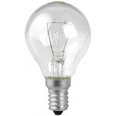 Лампа накаливания ШАР прозрачный 60Вт Е14 ЛИСМА