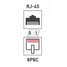 Разъем гнездо 8P8C CAT 5e экран длинное REXANT (FD-6052)