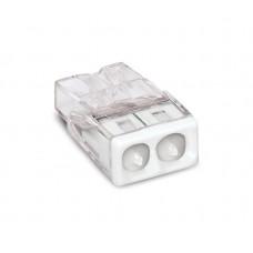 Клемма 2x2.5мм белая/прозрачная б/пасты WAGO
