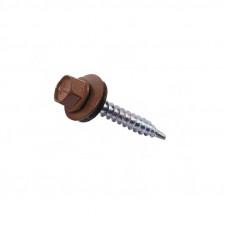 Саморез кровельный RAL-8017 ZP 4,8х28 шоколадно-коричневый 100шт