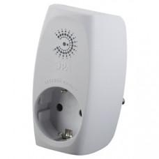 Фильтр сетевой с/з на 1 гнездо шторки белый SF-1e-W ЭРА