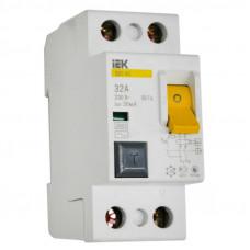 Выключатель диф. тока 2п 32A 30mA тип AC ВД1-63 ИЭК MDV10-2-032-030