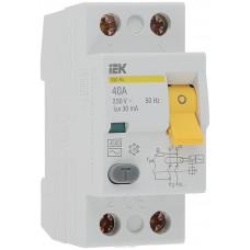 Выключатель диф. тока 2п 40A 30mA тип AC ВД1-63 ИЭК MDV10-2-040-030