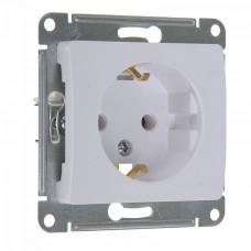 GLOSSA Механизм розетки 1 м с/з белая GSL000143 Schneider Electric