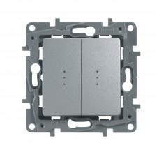 ETIKA PLUS Механизм выключателя/перекл.2 кл алюминий Legrand 672412