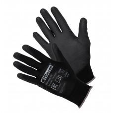 Перчатки Для точных работ,полиэстер,полиуретан.покр.L(р.9)черные PSV036P_B(пара,цена за пару)Fiberon