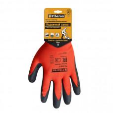 Перчатки полиэстер с текстурир.латекс.покрытием L (р.9) PSV035P (пара, цена за пару) Fiberon