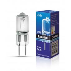 Лампа галогенная капсульная G6.35 35Вт 220В JD G6.35 220V 35W Camelion