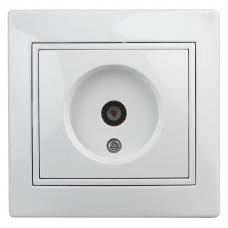 Intro Plano розетка TV одиночная IP20 СУ белый 1-301-01