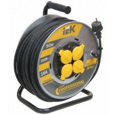Удлинитель силовой 4 розетки шнур 50м КГ 3х2,5 УК50 термозащита IP44