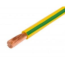 Провод ПУГВ 1х10 желто-зеленый многопров.