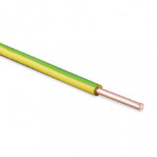 Провод ПУВ 1х1 желто-зеленый одножильный