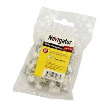 Скоба пласт. круглая 7мм (50шт/упак) NCR-07-50 Navigator