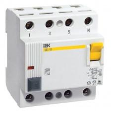 Выключатель дифф. тока 4п 16A 30mA тип AC ВД1-63 ИЭК MDV10-4-016-030
