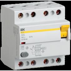Выключатель дифф. тока 4п 80A 30mA тип AC ВД1-63 ИЭК MDV10-4-080-030