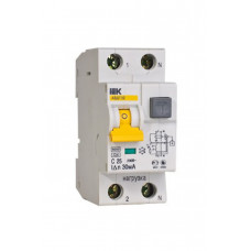 Выключатель диф. тока ВД1-63 2Р 25А 30мА тип А IEK