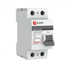 Устройство защитного отключения УЗО 2P 16А/30мА (электромех.) 4,5кА EKF PROxima