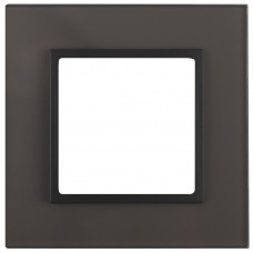 14-5101-32 ЭРА Рамка на 1 пост, стекло, Эра Elegance, серый+антр (10/50/1800)