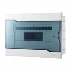 Бокс ЩРВ-П-ЩРВ-П-12 12 мод. встраиваемый белый с дымчатой дверцей IP40 Lezard