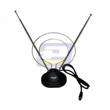 Антенна комнатная на подставке с кольцом VHF, UHF,  47-860 MHz RX-100 Rexant