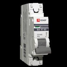 Выключатель автомат. 1Р 20А хар.С ВА 47-63 4,5кА 230В PROxima EKF