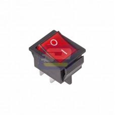 Выключатель кл. 250V 16А (4с) ON-OFF красный с подсветкой (RWB-502, SC-767, IRS-201-1)
