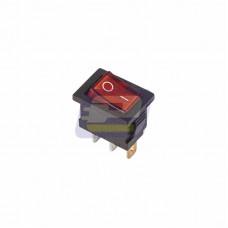 Выключатель кл. 250В 6А (3с) ON-OFF красный с подсветкой Mini (RWB-206, SC-768)