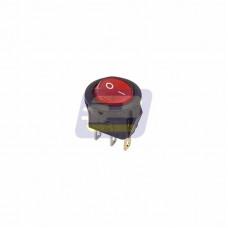 Выключатель кл. круглый 250В 3А (3с) ON-OFF красный с подсветкой Micro(RWB-106,SC-214)