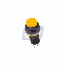 Выключатель-кнопка 250В 1А (2с) (ON)-OFF б/фикс желтая Micro (PBS-20В)