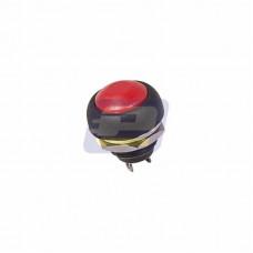 Выключатель-кнопка 250В 1А (2с) (ON)-OFF б/фикс красная Micro (PBS-33В)