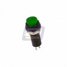 Выключатель-кнопка 250В 1А (2с) ON-OFF зеленая (PBS-11А)