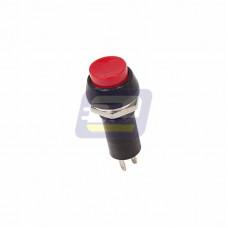 Выключатель-кнопка 250В 1А (2с) ON-OFF красная (PBS-11А)