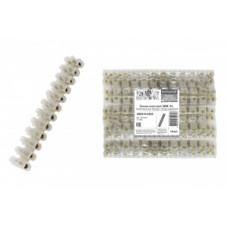 Зажим винтовой ЗВИ-16мм 60А полиэтилен 2,5-16мм2 12пар от -25 до +80°С натуральный TDM