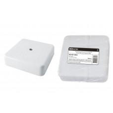 Коробка распаячная д/наружного монтажа  75х75х20мм IP40 ОП белая инд. штрихкод КР TDM