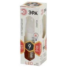 Лампа светодиод.СВЕЧА 9Вт E27 2700K LED smd B35-9w-827-E27 ЭРА