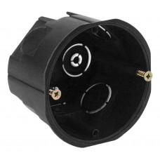 ЭРА Коробка установочн. КУТ 68х45мм для твердых стен саморез. черная IP20 (200/2400)