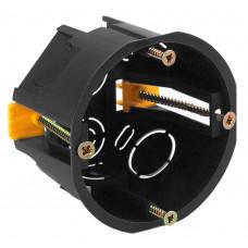 ЭРА Коробка установочн. КУП 68х45мм для полых стен саморез. пласт. лапк. черная IP30 (200/2400)