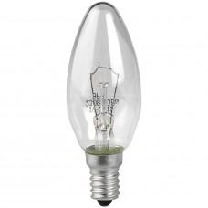 Лампа накаливания СВЕЧА прозрачная 40Вт Е14 гофра