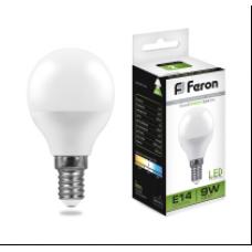 Лампа светодиод.ШАР 9Вт E14 4000K 230В SBG4509 SAFFIT Feron