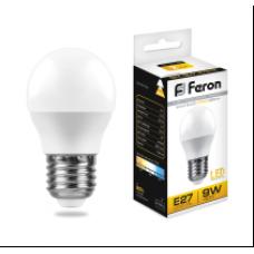 Лампа светодиод.ШАР 9Вт E27 2700K 230В SBG4509 SAFFIT Feron