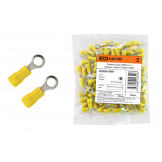 Наконечник НКИ 5,5-4 кольцо 4-6мм (100шт/упак) желтый TDM
