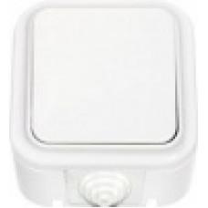 ПРАЛЕСКА-выключатель 1 клав. ОУ IP54 250В брызгозащ.белая СВЕТОПРИБОР