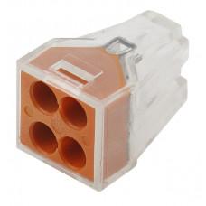 Строительно-монтажная клемма СМК 104 4 отверстия 1.0-2.5мм2 NO-222-19 ЭРА