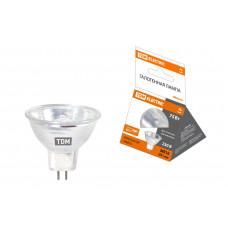 Лампа галогенная GU5.3 230В 75Вт JCDR MR16  с отражателем TDM