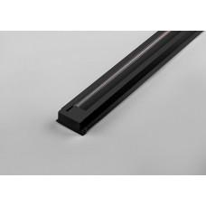 Шинопровод д/трековых светильников 1м черный/набор 2 заглушки,крепление CAB1000 Feron